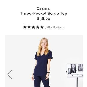 FIGS small Casma navy top
